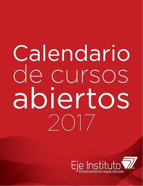 Eje Instituto - Calendario programas abiertos 2017