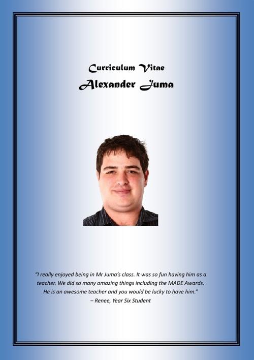 Alex Juma CV