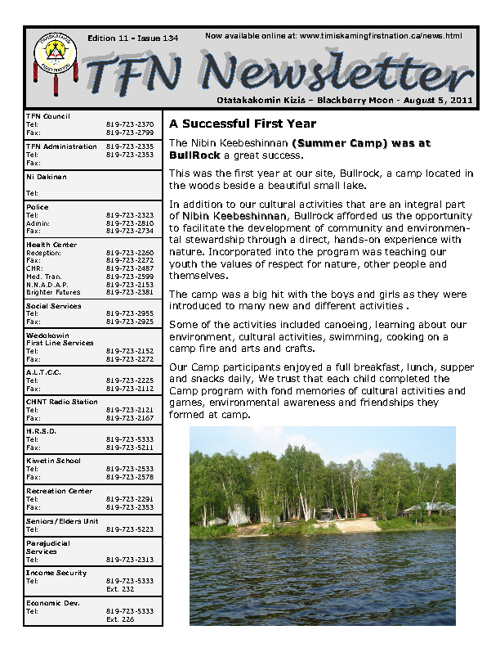 TFN Newsletter - August 19, 2011