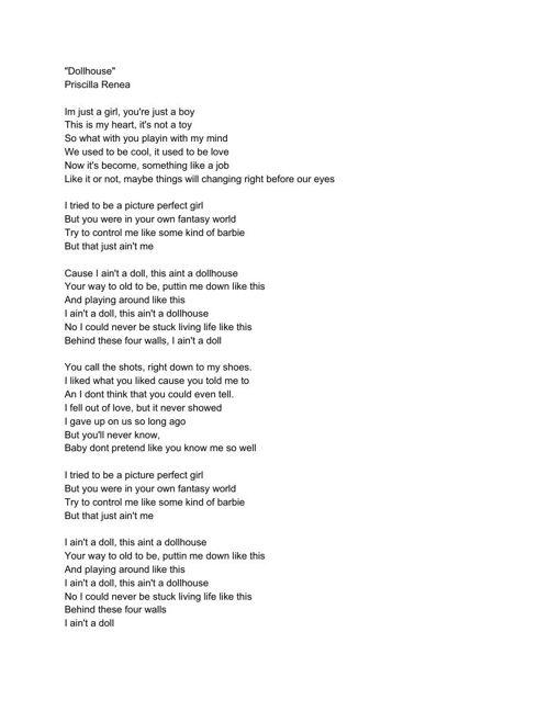 Lyrics as inspiration