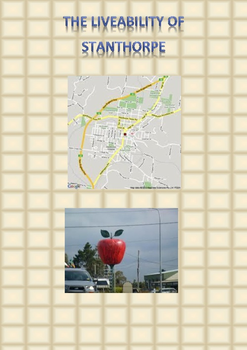 The Livability of stanthorpe Assignment