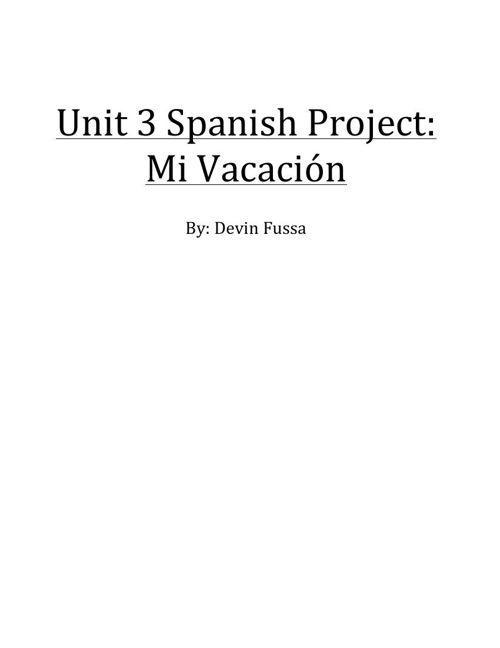 Spanish Project Valencia