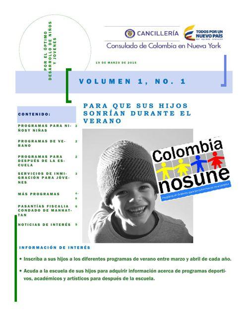 Boletín Informativo Consulado de Colombia NY- Colombia Nos Une