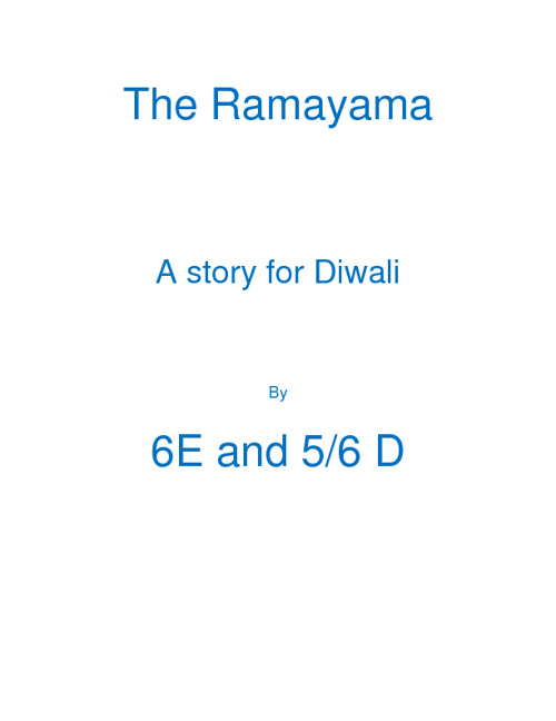 The Ramayama by 6E and 56D