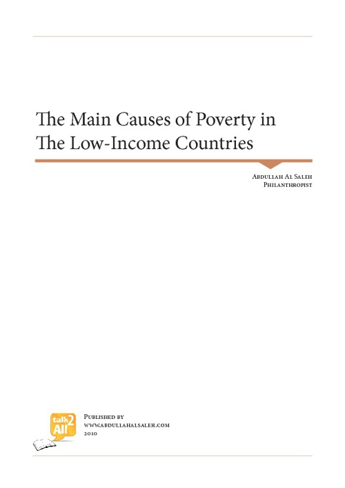 The main causes of poverty in low income countries