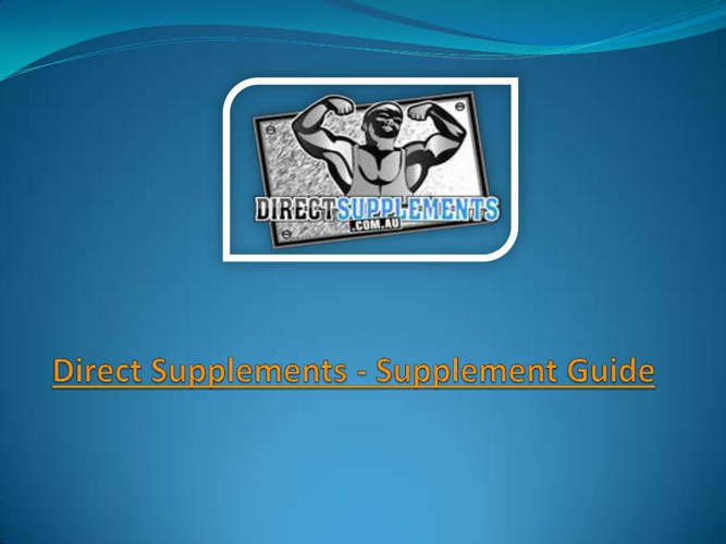 Direct Supplements - Supplement Guide