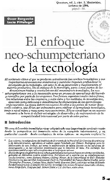 Burgeño y Pitaluga (1994). En: Quantum Vol.1 Nº 3 pp.  5-32
