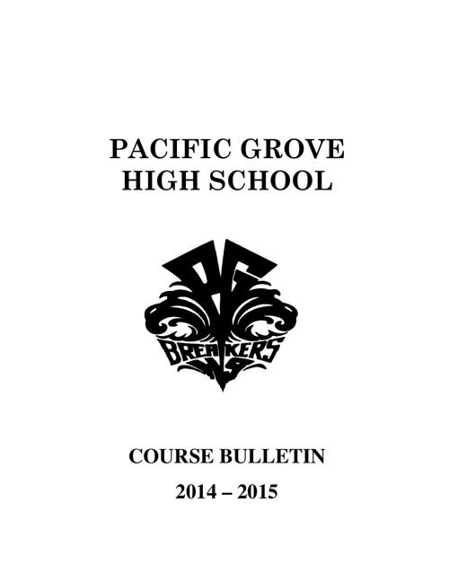 PGHS Course Bulletin 2014-15