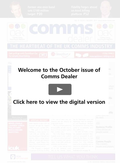Comms Dealer October issue new