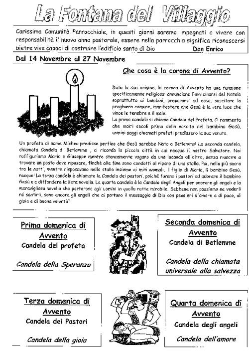Bollettino dal 14 al 27 novembre 2011