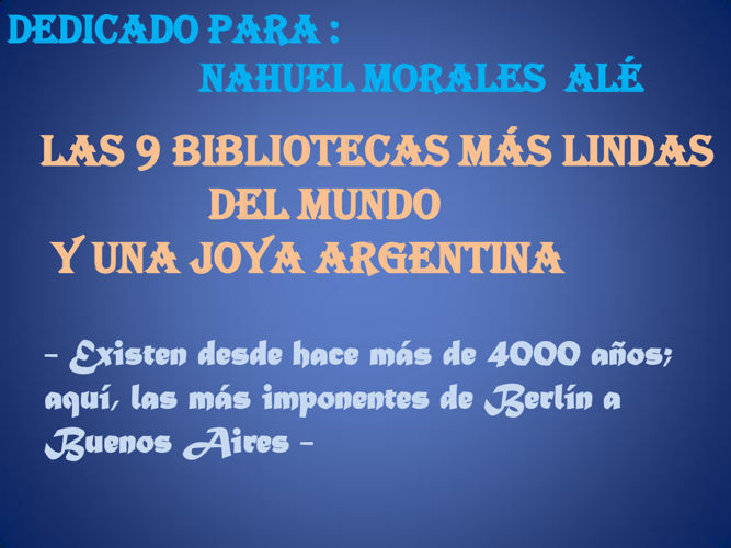 PresentaciBIBLIOTECAS