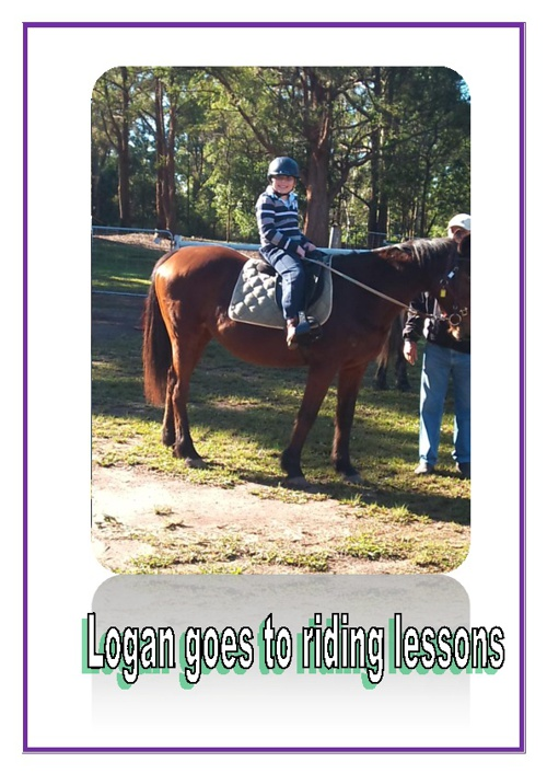 Logan goes to riding lessons
