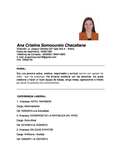 CV ANA SOMOCURSIO