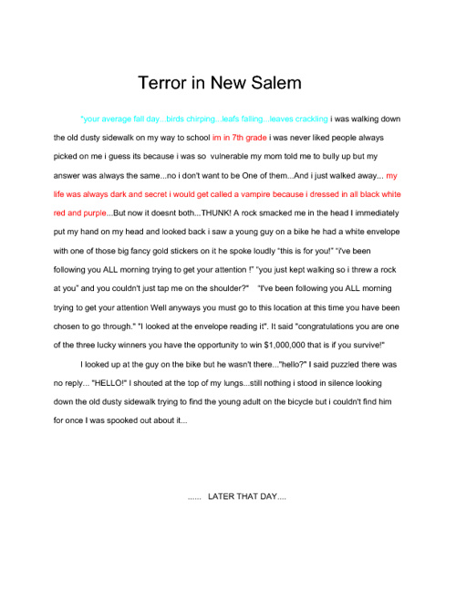 Terror in New Salem