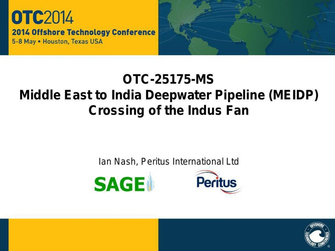 MEIDP - Crossing of the Indus Fan Pres