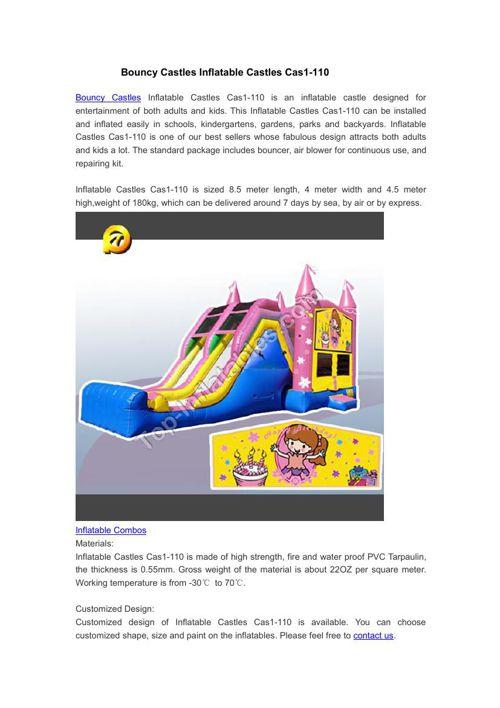 Bouncy Castles Inflatable Castles Cas1-110