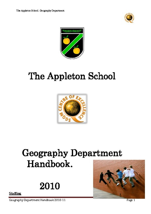 Department Handbook 2010-2011