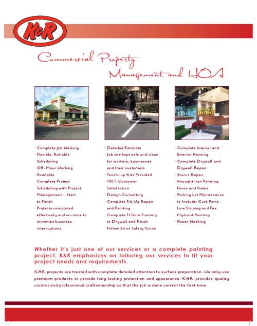 K & R Painting Brochure