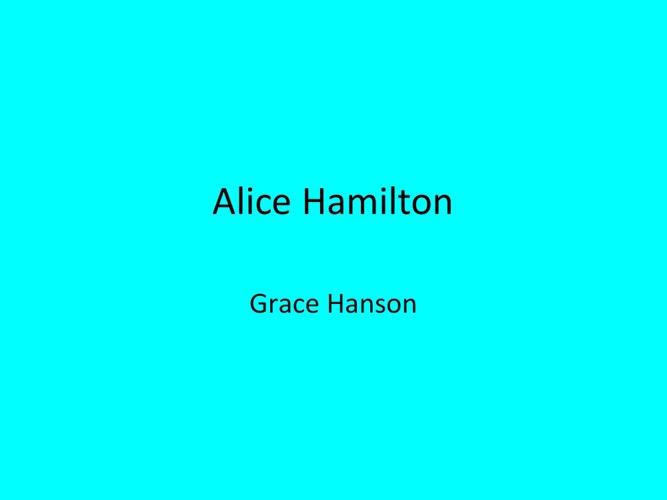 P.6 Hanson Hamilton