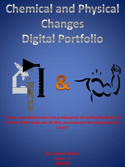 Chemical and Physical Changes Project Digital Portfolio