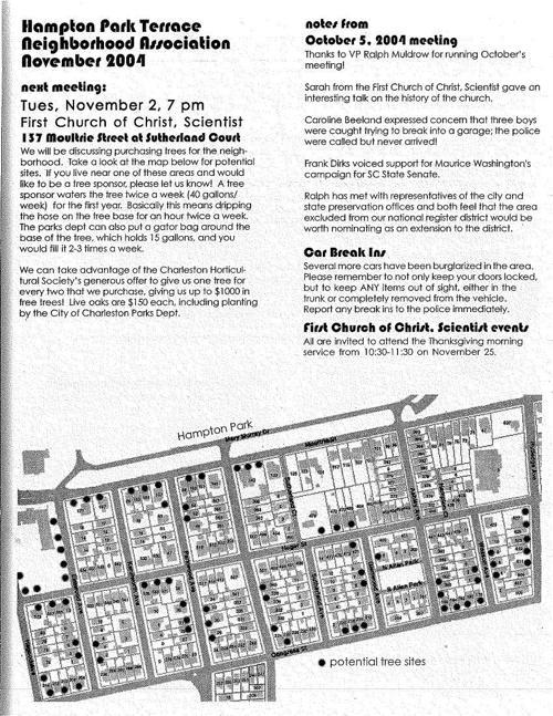 HPT Newsletter November 2004