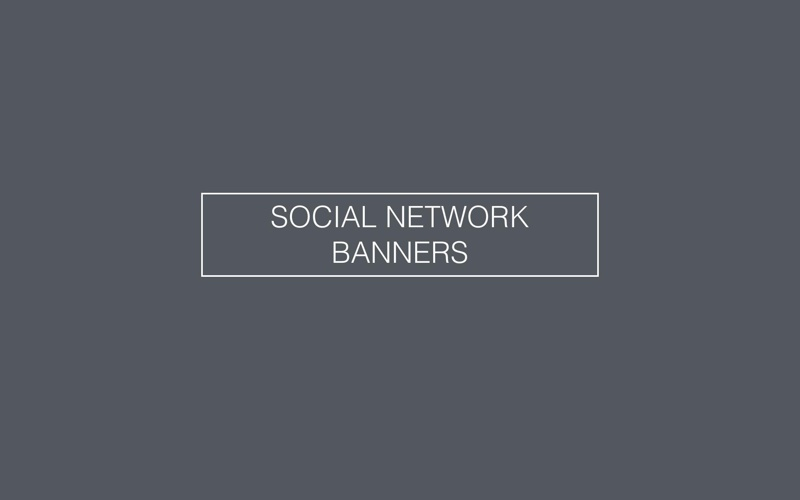 SOCIAL NETWORK BANNERS