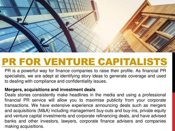 PR For Venture Capitalists