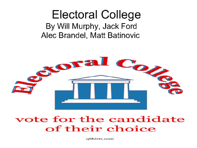 The Electoral College for Kids!
