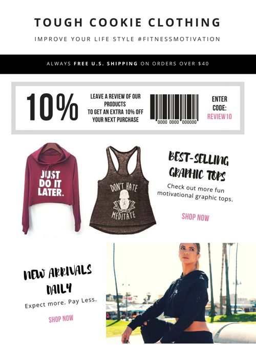 Tough Cookie Clothing September 2017 Newsletter
