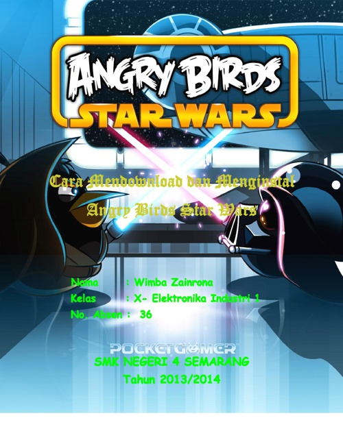 Cara Mendownload Dan Menginstal Game Angry Birds Star Wars