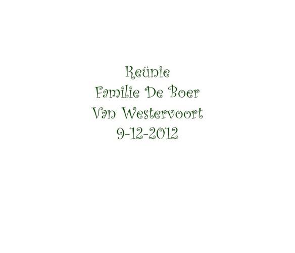 Reunie van Westervoort - de Boer