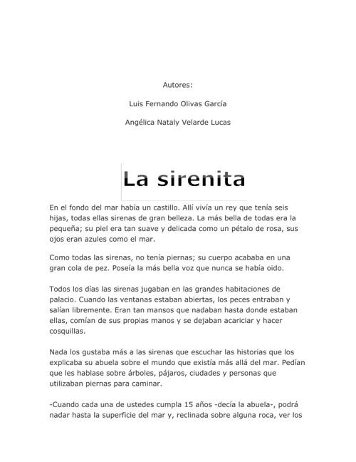 La sirenita♥!
