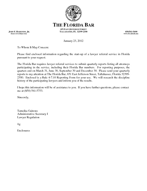 Fla Bar advertisement requirements