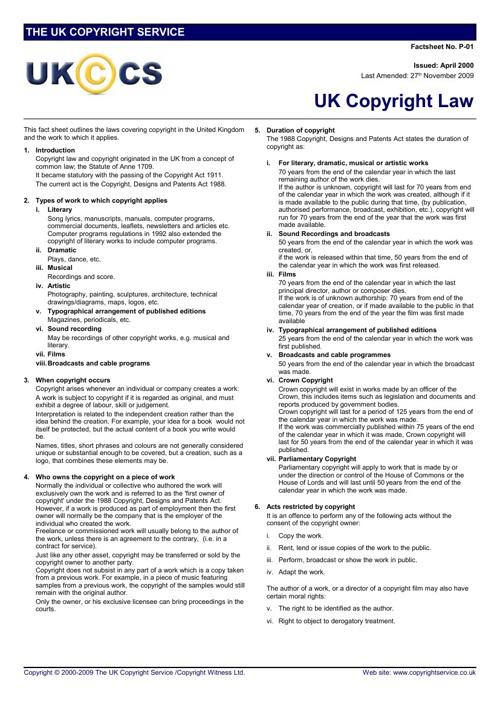 UK Copyright Law