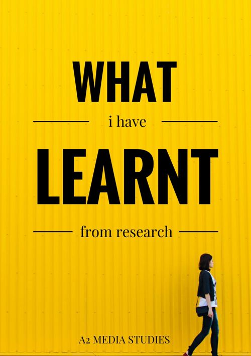What I Have Learnt From My Research