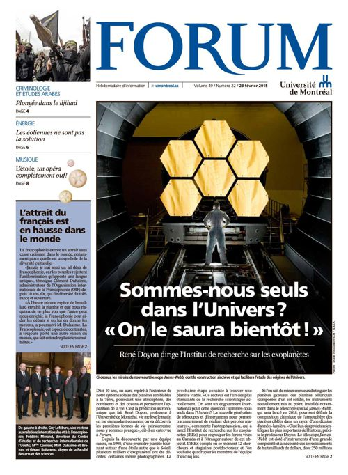 Journal Forum - semaine du 23 février 2015