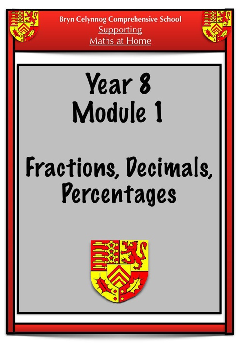 Year 8 Module 1 Booklet PDF