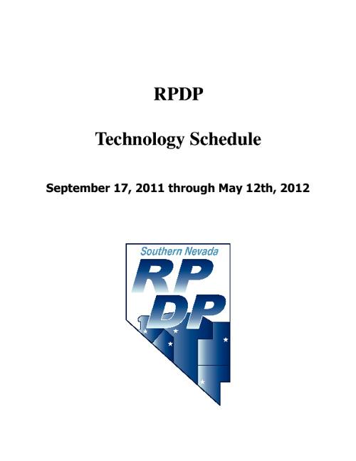 RPDP Tech Schedule 11/12