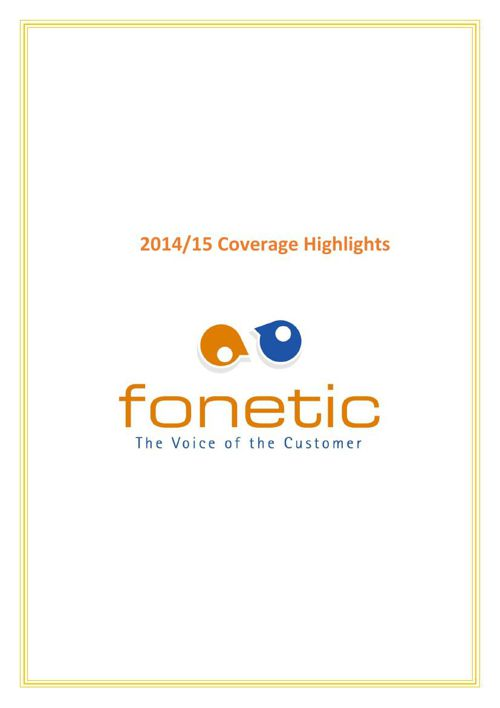 Fonetic 2014/15 Coverage Highlights