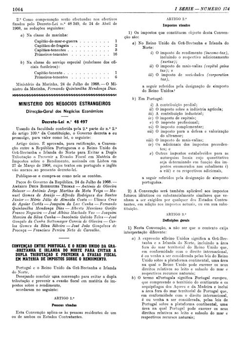 Convenção com Reino Unido