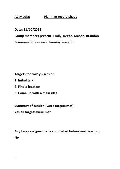Planning Record Sheets (1)