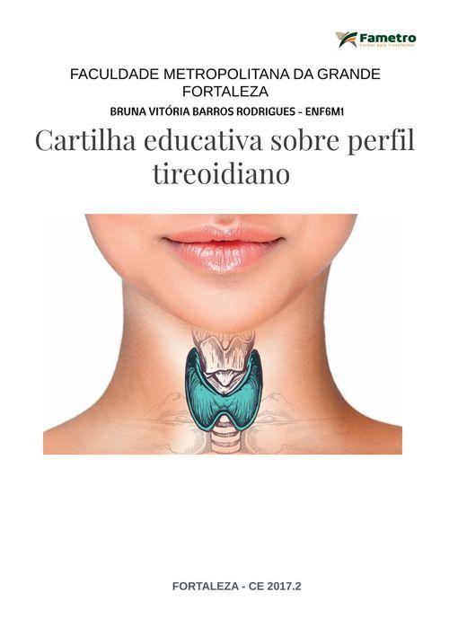 CARTILHA EDUCATIVA SOBRE PERFIL TIREOIDIANO