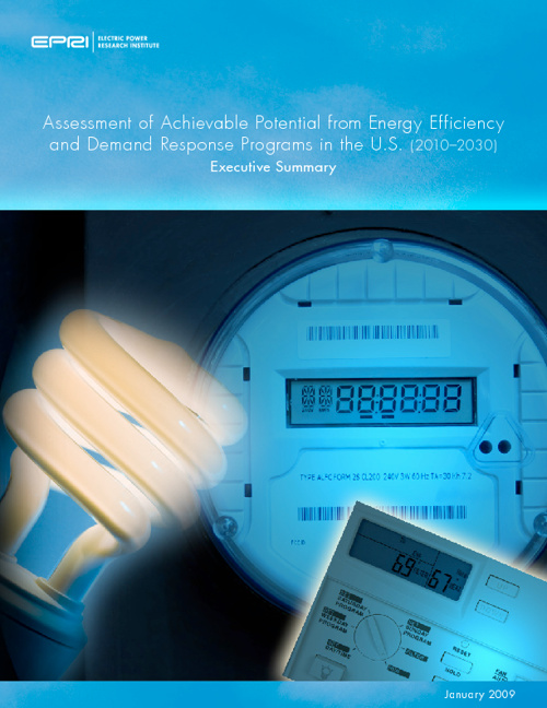 EPRI Energy Efficiency Executive Summary 2010-2030