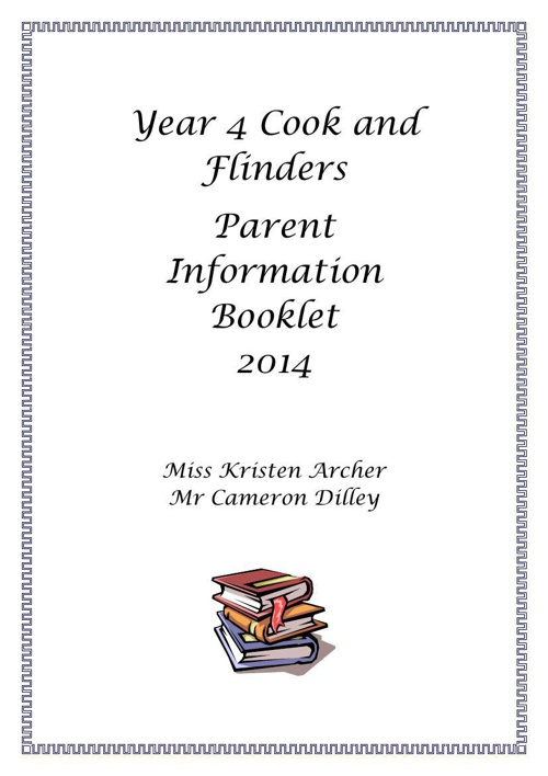 Year 4 Parent Booklet 2014