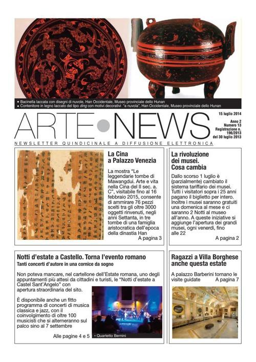 """""""Arte News"""" - 15 luglio 2014"""