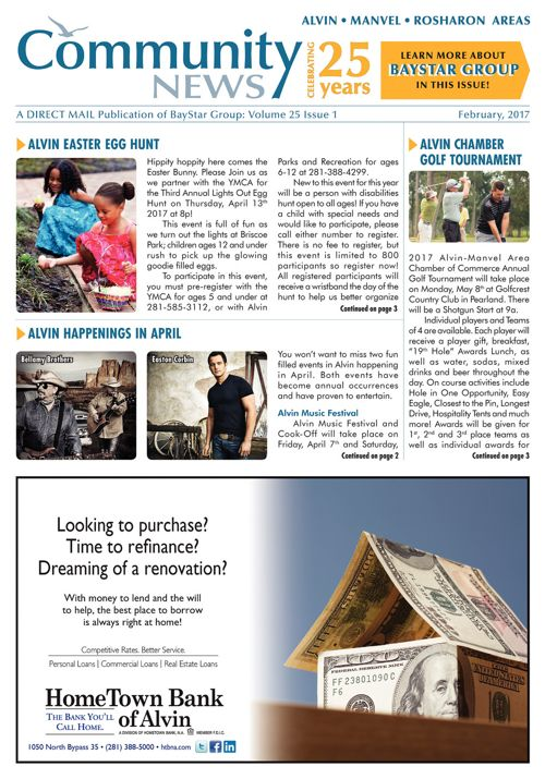 Alvin-Manvel-Rosharon Community News Volume 25 Issue 1