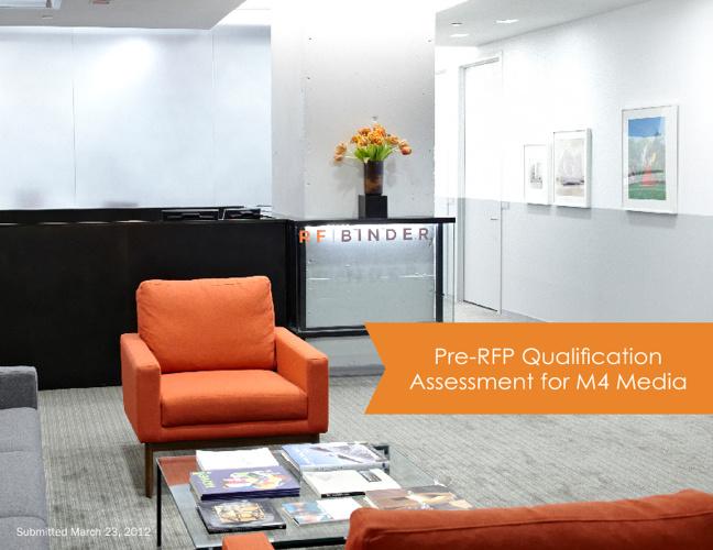 Pre-RFP Qualification Assessment for M4Media