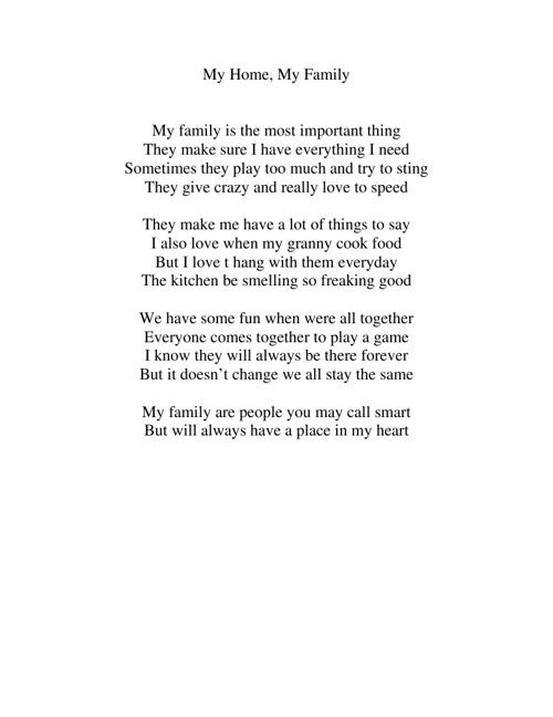 My Senior Poetry Book