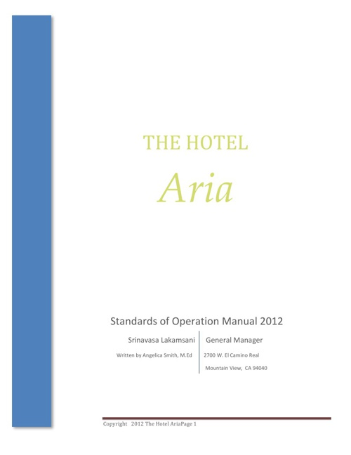 The Hotel Aria Company Profile