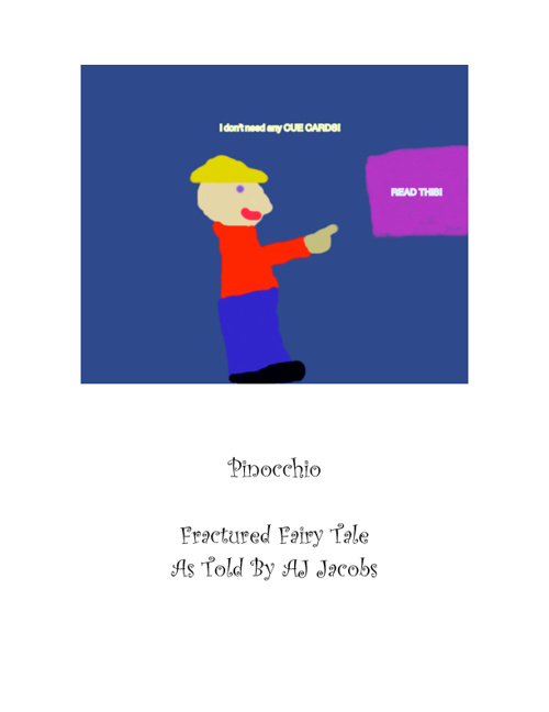 Pinocchio Fractured Fairy Tale with Image